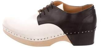Maison Margiela Bicolor Platform Oxfords w/ Tags
