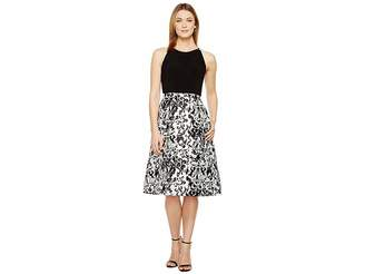 Adrianna Papell Jersey and Mikado Party Dress Women's Dress