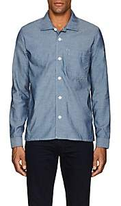 N. Max 'n Chester MAX 'N CHESTER MEN'S COTTON CHAMBRAY SHIRT-BLUE SIZE 30