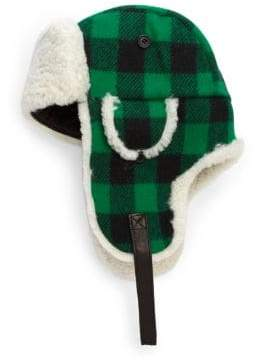 Crown Cap Franklin Wool Plaid Aviator Hat