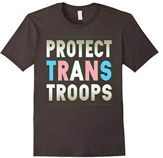 Support Trans Military T Shirt Protect Trans Troops Shirt