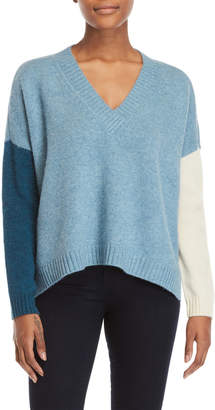 Derek Lam 10 Crosby Color Block V-Neck Sweater