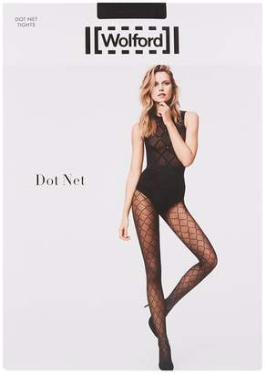 Wolford Diamond Print Embellished Tights