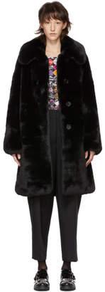 Marc Jacobs (マーク ジェイコブス) - Marc Jacobs ブラック フェイクファー プラッシュ コート