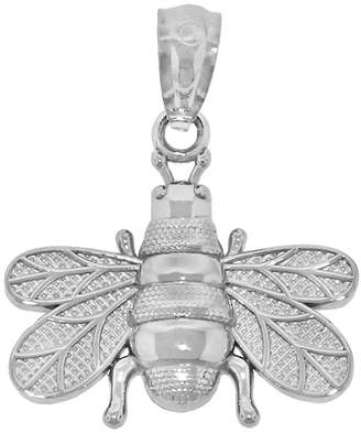 Bumble Bee FINE JEWELRY Sterling Silver Diamond-Cut Charm Pendant