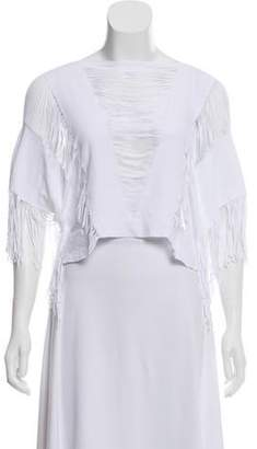 Beach Bunny Swimwear Fringe-Trimmed Swim Coverup w/ Tags White Swimwear Fringe-Trimmed Swim Coverup w/ Tags