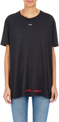 Off-White c/o Virgil Abloh Women's Cherry-Blossom Jersey T-Shirt $356 thestylecure.com
