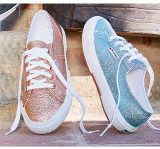 Soft Surroundings Superga Textured Metallic Sneakers
