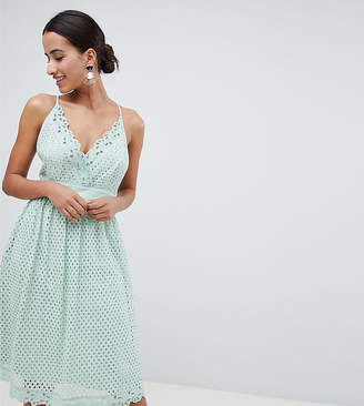 boohoo Cami Lace Midi Dress