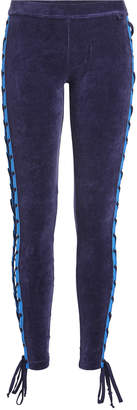 FENTY PUMA by Rihanna Stretch Velour Leggings with Lace-Up Sides