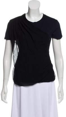 Lanvin Drape-Accented T-Shirt