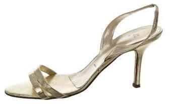 Vera Wang Metallic Slingback Sandals