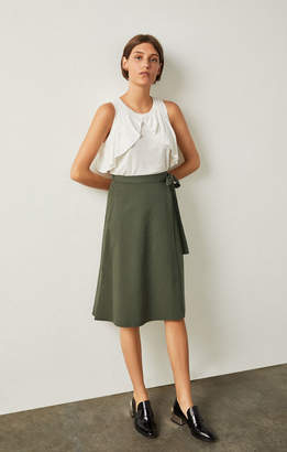 BCBGMAXAZRIA Meya Chambray Wrap Skirt