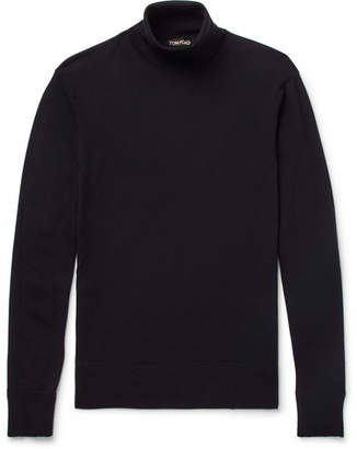 Tom Ford Wool Rollneck Sweater - Men - Navy