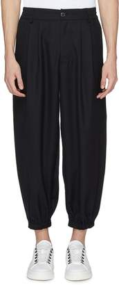 Feng Chen Wang Contrast piping tapered leg gabardine pants