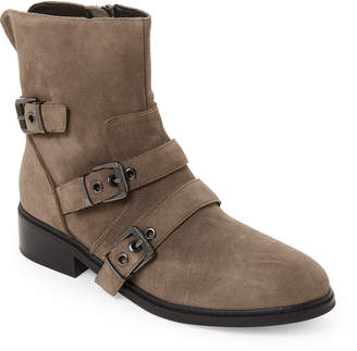 KENDALL + KYLIE Olive Faux Suede Nori Buckle Detail Boots