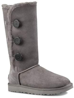 UGG Bailey Button Triplet Sheepskin Mid Calf Boots