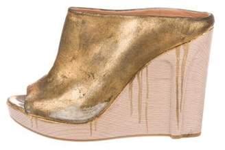 Maison Margiela Metallic Wedge Sandals