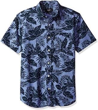 Jack Spade Men's Clift Short Sleeve Tropics Point Collar Shirt