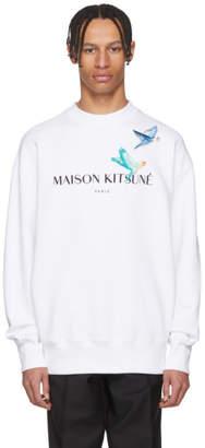 MAISON KITSUNÉ White Lovebirds Sweatshirt