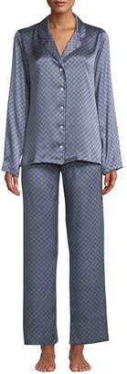 Derek Rose Brindisi Classic Medallion-Print Silk Pajama Set