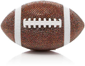Judith Leiber Couture Pig Skin Football Crystal Embellished Clutch
