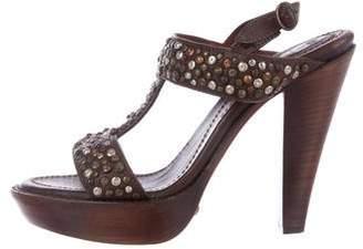 Frye Studded T-Strap Sandals