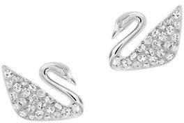 Swarovski Swan Pierced Crystal Earrings