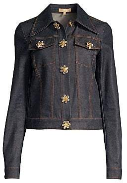 Michael Kors Women's Jewel Button Denim Jacket - Size 0