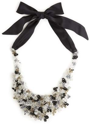 Natori Josie Beaded Bib Necklace Black