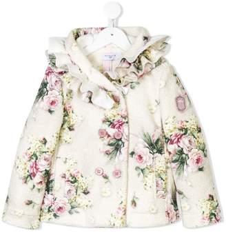 MonnaLisa floral print coat