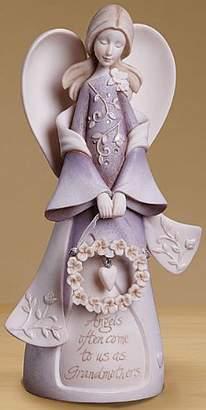 Enesco 4014325 Foundations Grandmother Angel Stone Resin Figurine