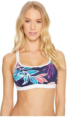 Tommy Bahama IslandActive Graphic Tropics Banded Scoop Bikini Bra Women's Swimwear