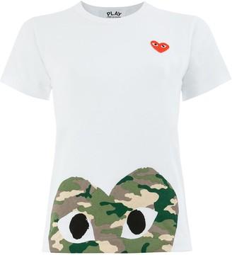 Comme des Garcons (コム デ ギャルソン) - Comme Des Garçons Play ハートロゴ Tシャツ
