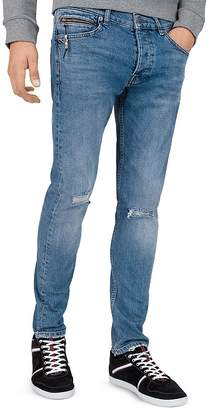 The Kooples Cropped Slim Fit Jeans in Blue