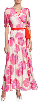 Diane von Furstenberg Breeze Floral-Print Silk Long Wrap Dress