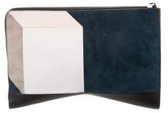 Narciso Rodriguez Colorblock Boomerang Clutch