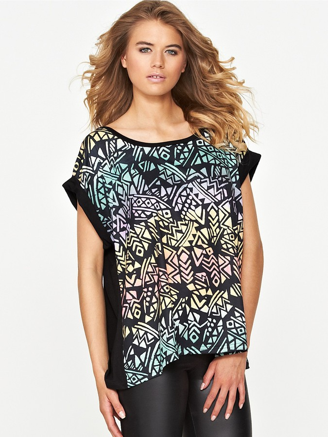 Love Label Ombre Printed Top