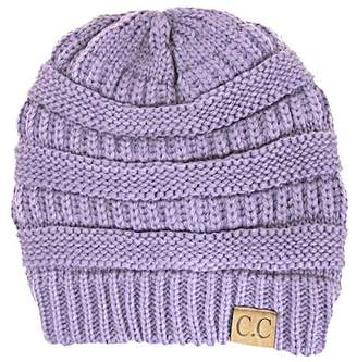 CC Mixed Knit Pattern Beanie