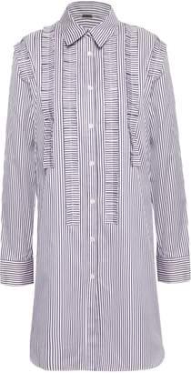 ADAM by Adam Lippes Ruffle-trimmed Striped Tunic