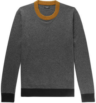 Club Monaco Contrast-Trimmed Cashmere Sweater