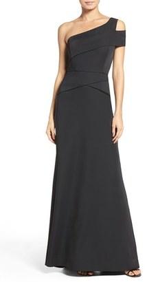 Women's Bcbgmaxazria One-Shoulder Satin Gown $368 thestylecure.com