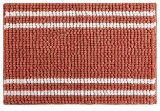 Style House stylehouse WK682520 Striped Textured Noodle Rug with Latex Backing Coral 20 X 30