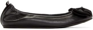 Lanvin Black Bow Ballerina Flats $595 thestylecure.com