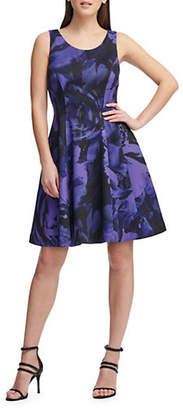 DKNY Floral Fit--Flare Dress