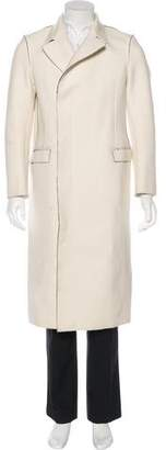 CNC Costume National Wool-Blend Long Overcoat