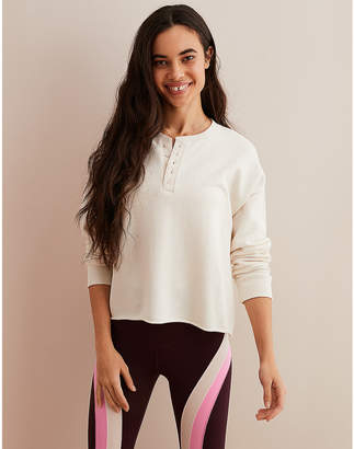aerie Henley Pullover Sweatshirt