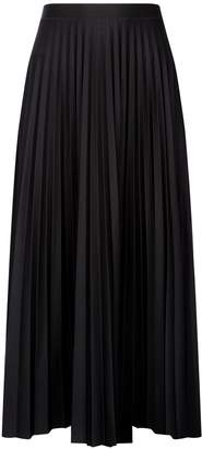 Dorothy Perkins Womens Black Jersey Pleat Midi Skirt