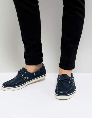 2001 Suede Boat Shoe in Navy