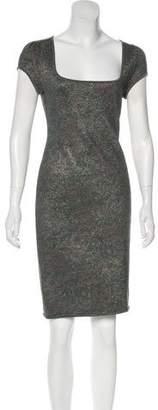 Zac Posen Short Sleeve Midi Length Bodycon Dress